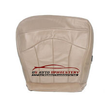 00 01 Ford F150 Lariat 4X4 2WD 7.3L Diesel -DRIVER Bottom Leather Seat Cover TAN