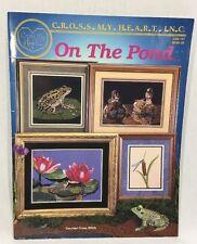 On The Pond Cross Stitch Pattern Leaflet Cross My Heart Inc CSB-167 Frogs Ducks