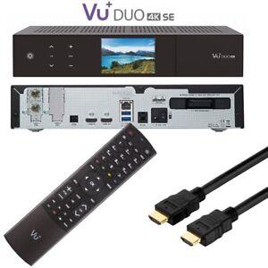 Vu+ Duo 4k Se 1x DVB-S2X Fbc Double Tuner Pvr Prêt Récepteur Linux UHD 2160p Sat
