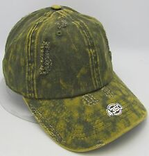 Green Unconstructed Color Dyed Distressed Cap Dad Painter Hat Adjustable NWT