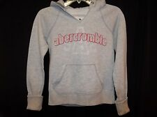 ABERCROMBIE White Pull-over HOODIE Sweatshirt Jacket TOP Size MEDIUM 10/12