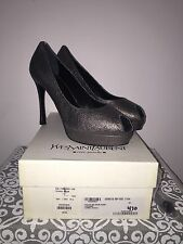 YSL Yves Saint Laurent Palais 80 Vulcano Open Toe Pumps. Sz 41 NIB!!