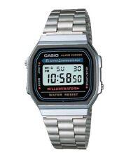 Casio Vintage Watch * A168WA-1W Iluminator Silver Steel Classic COD PayPal