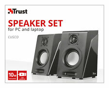 TRUST 21676 CUSCO 2.0 COMPACT 10W PMPO 5W RMS USB POWERED SPEAKER SYSTEM