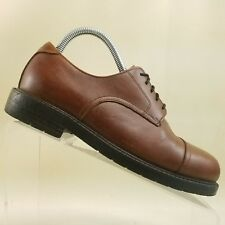 G H Bass Mens Brown Leather Plain Cap Toe 5-Eye Casual Oxford Size 7M #E39