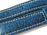 22mm Breitling Band 817X 22/18 Kalb blau blue Strap für Dornschliesse 009-22