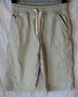 Boys Matalan Light Grey Cotton Drawstring Waist Long Board Shorts Age 10 Years