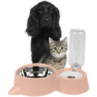 Automatic Water/Food Pet Dog Cat Puppy Dispenser Feeder Drinking Bowl Bottle AU