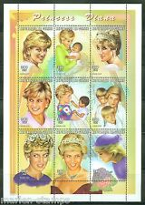 GUINEA  PRINCESS DIANA SC#1439  300 fr  SHEET OF NINE  PERFORATED  MINT NH