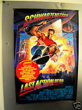 LAST ACTION HERO Superlarge PROMO POSTER with BAND NAMES Def Leppard AC/DC Tesla