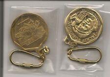 Jackie Robinson Gold Medallion Keychain 1997