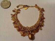 Premier Designs Masterpiece Gold Tone Gold bead Bracelet NO RESERVE_