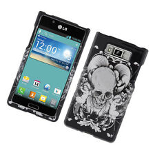 For LG Optimus Showtime L86c HARD Protector Case Snap On Phone Cover Skull Angel