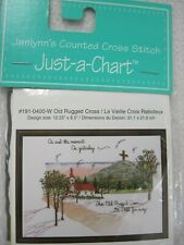 NEW JANLYNN JUST-A-CHART OLD RUGGED CROSS COUNTED CROSS STITCH  #191-0400-W