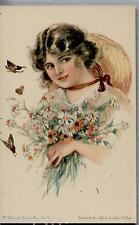 ALICE LUELLA FIDLER American Girl N° 35 Art Nouveau Glamour PC Circa 1920