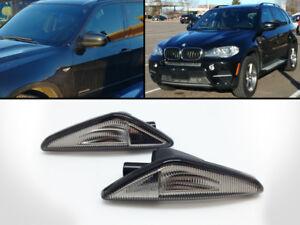 LED Smoked Side Turn Markers Light Fits 2007-2012 BMW E70 X5/F25 X3/E71 E72 X6