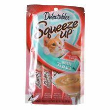 LM Hartz Delectables Squeeze Up Cat Treat - Tuna 4 Pack - (4 x 0.5 oz Tubes)