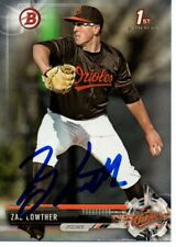 Zac Lowther Baltimore Orioles 2017 Bowman Rookie Signed Card