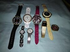 Nice Mixed Lot of 8 Ladies Watches - Casual to Dressy - Mixed Brands - Untested