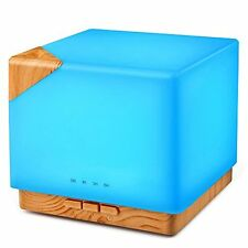 Square Aromatherapy Essential Oil Diffuser Humidifier, 700ml Large Capacity 20 7
