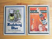 Karlsberg Ur Pils Bier Homburg 2 Blechschilder Metall Schild 40 cm Nostalgie