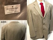 Rare Vintage Ermenegildo Zegna Soft Cashmere Silk Blend Gray Blazer 3 Button 48R