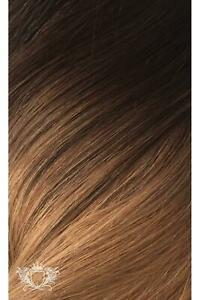 """Foxy Locks 16"""" Clip In Human Hair Extension Mocha Toffee Ombre #T4-27 50g Weft"""