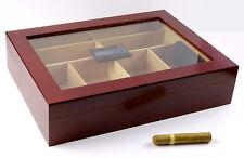 Humidor Angelo Gastro Kirschdesign ca 100 Zigarren Hygrometer PolymereBefeuchter