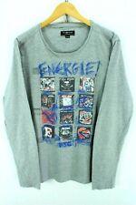 Energie Men's Crew Neck Sweater, Size XL, Long Sleeves Grey Tshirt EF1298