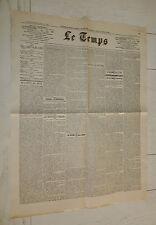 FAC-SIMILE A LA UNE JOURNAL LE TEMPS 26/06 1928 POINCARE FRANC REFORME MONNAIE