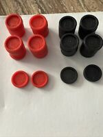 Connect Four 4 Game Replacement Pieces Parts  Lot 4 Black Checkers Tokens 2004