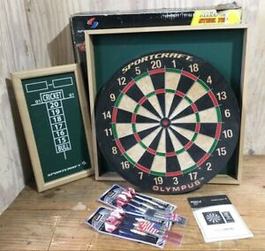 Sportcraft Bristle Traditional Dartboard Scoreboard 12 Darts