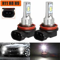 Upgrade H11 H8 H9 LED Headlight Bulbs Kit High Low Beam 70W 4000LM 6000K White