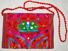 New Fair Trade Embroidered Cotton Bag - Handbag Hippy Ethnic Ethical India Boho