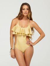 New Roxy Women Swimwear One Piece Ruffle Monokini Swimsuit Large ARJS100005
