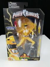 Legacy Metallic Yellow Power Ranger Figure Exclusive Weapons Limited Edition