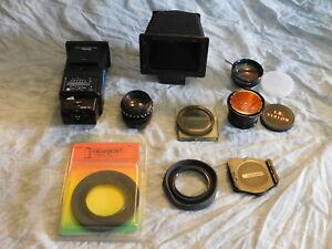 Camera Accessory Lot Cokin Vivitar Bellows Rodenstock Lens Lot