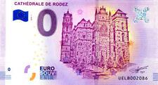 12 RODEZ Cathédrale, 2018, Billet 0 € Souvenir