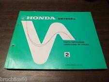 PARTS LIST HONDA CB 750 FOUR PZ 1980 -> listing de pieces détachées CB750PZ