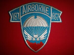 Vietnam War US 187th Regimental Combat Team AIRBORNE Patch