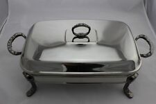 Stainless Steel Chafing Dish / Chafer with Glass Food Tray - 3 Litres Capacity