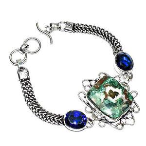 """Malachite Copper Turquoise Ethnic Gemstone Handmade Gift Jewelry Bracelet 7-8"""""""