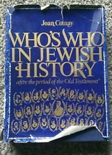 Who's Who in Jewish History: After the Period of Old Testament Book Estate Sale*