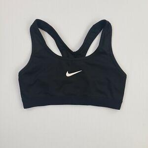Nike Womens S Sports Workout Bra Dri-Fit Stretch Black Workout Athletic Tank Top