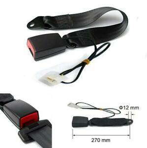 """7/8"""" Camlock Car Front Seat Belt Buckle Padding Socket Plug with Warning Cable"""
