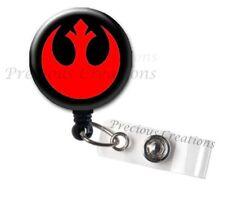 Star Wars Rebel Team ID Badge Reel Holder Clip Retractable RT Tech Nurse
