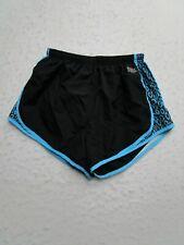 Everlast Girls Youth S Small Black Blue Striped Shorts Athletic Elastic Waist