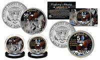 APOLLO 11 50th Anniversary Man on Moon U.S. JFK Kennedy Half Dollar 2-Coin Set