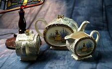 More details for vintage antique 1930' sadler barrel ''crinoline lady teapot creamer & sugar bowl