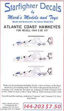 Starfighter Decals 1/144 GRUMMAN E-2C HAWKEYE Atlantic Coast Hawkeyes